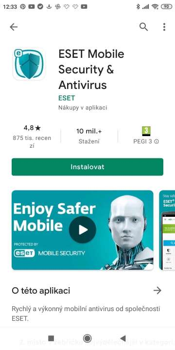 ESET Mobile Security v Google Play